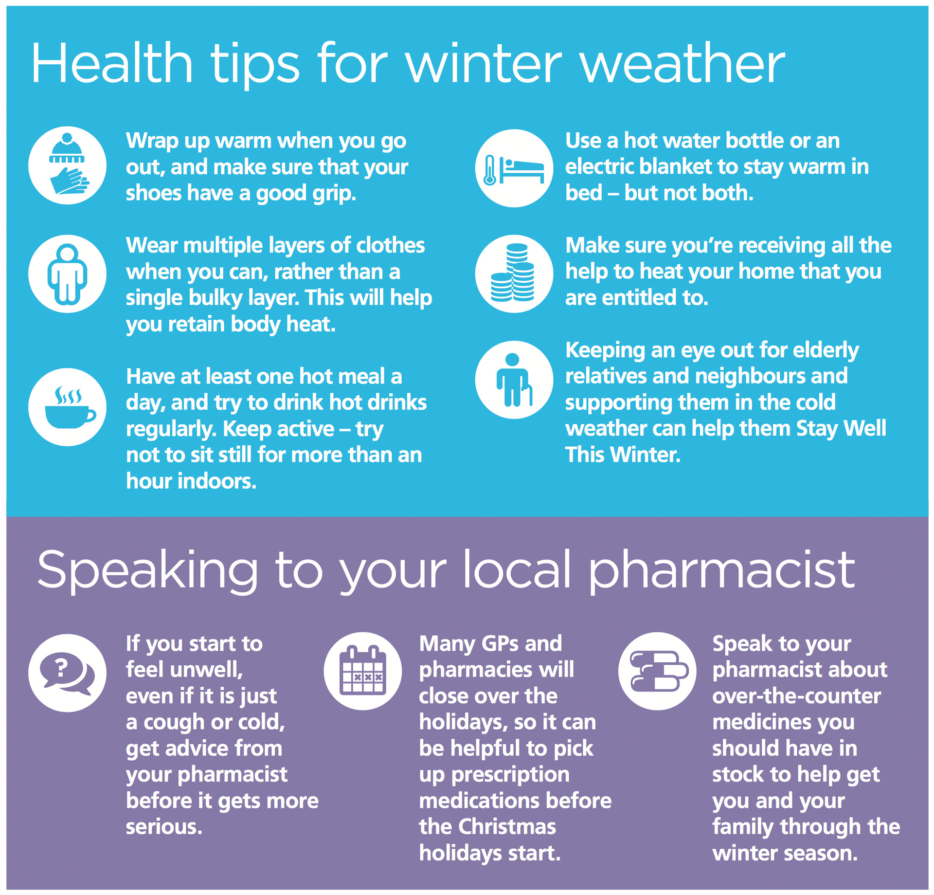 Health tips for winter